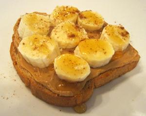 Great Harvest breakfast sandwich with banana photo