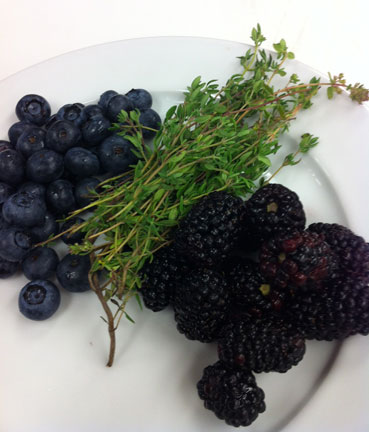 berries and thyme