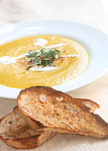 New Recipe: Great With Wheat Bread - Roasted Butternut Squash Soup