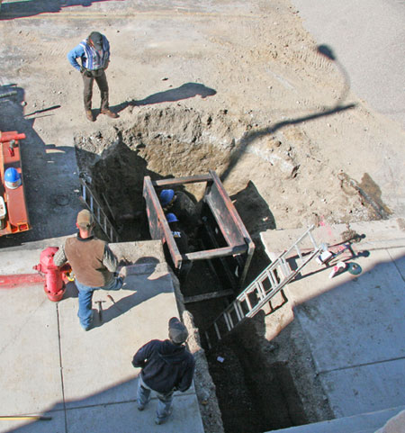 The Big Dig at our Bread Franchise Headquarters