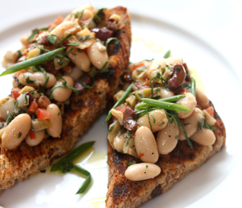 New Bread Appetizer Recipe: White Bean Crostini