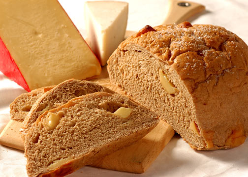 Gouda and stout Great Harvest bread photo