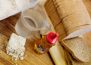 honey whole wheat ingredients photo
