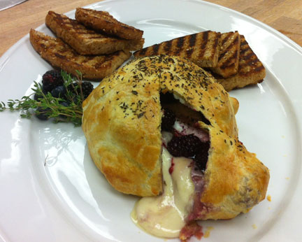 Recipe Complementing Whole Wheat Bread: Baked Brie with Berries