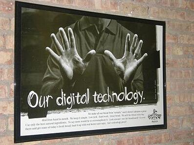 sign_from_Evanston_Great Harvest digital technology