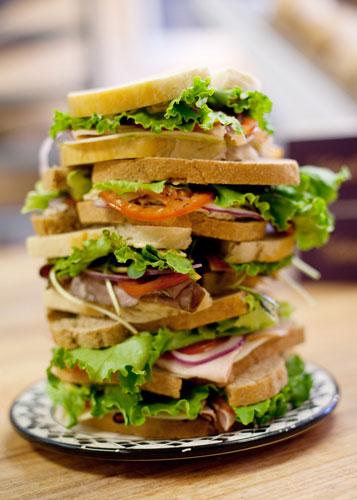 whole grain sandwich photo
