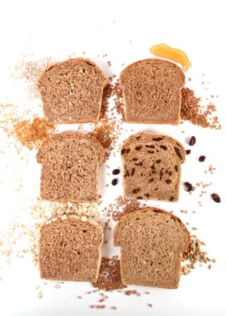 whole wheat bread slices