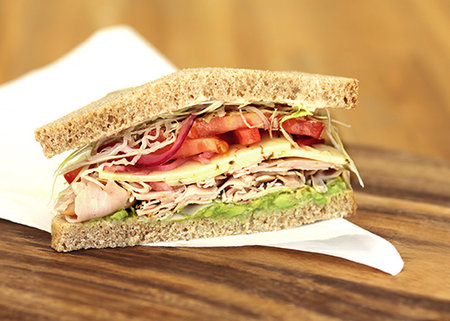 Whole wheat Baja Chipotle Turkey sandwich