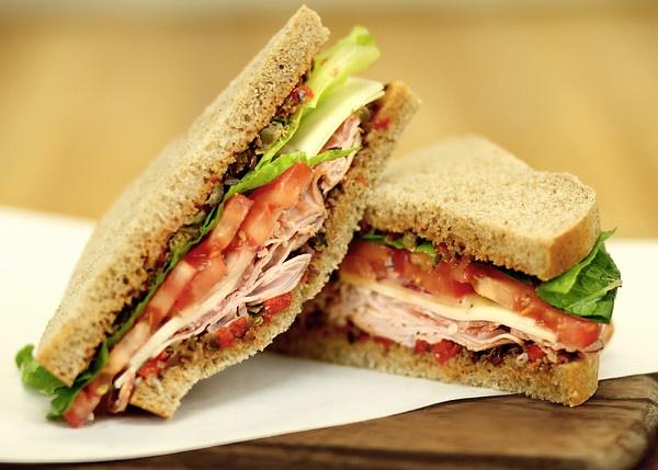 sandwich on whole wheat bread