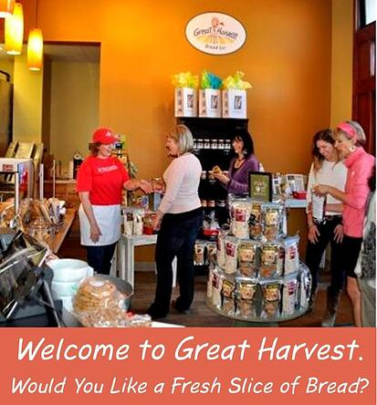 customers in a Gret Harvest lobby