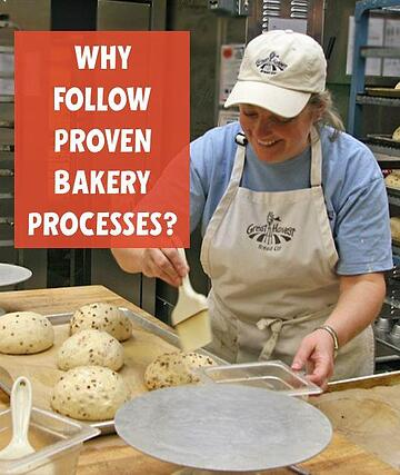 baker designing loaves in this photo