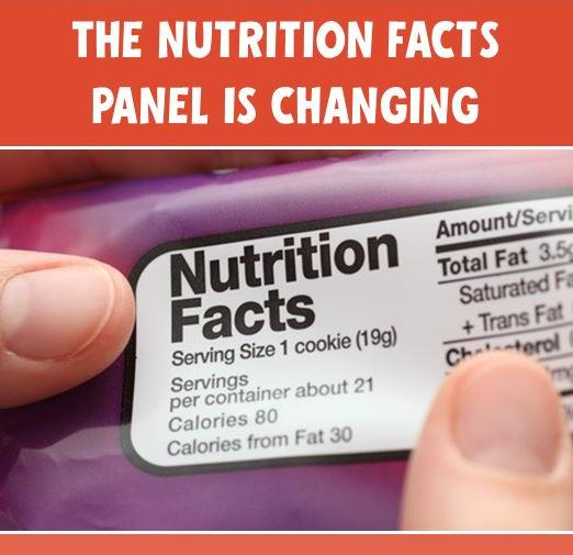Changes Coming To The Nutrition Facts Panel